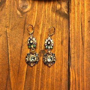 Gemstone Dangle Statement Earrings